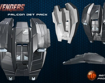 Marvel Falcon Jet Pack - 3D print File