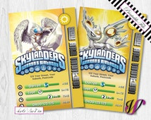 2 Skylanders Birthday Invitations - Trap Team - Light - SLL-I