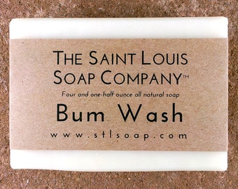 Bum Wash Soap – Vegan Soap, Fragrance Free Soap, All Natural Soap, Hand Made Soap, Unscented Soap, Plain Soap, Simple Soap, Handmade Soap