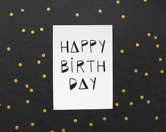 "Greeting card set ""Happy Birthday"""