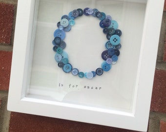 Personalised Letter Button Frame