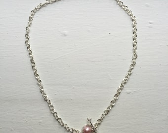 Chain Necklace with Pearl accent