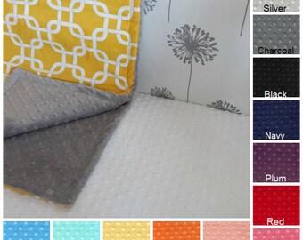 Minky Crib Sheet - Fitted Crib Sheet - Toddler Bed Sheet - Baby Bedding - Minky Dot - Nursery - Crib Bedding - Toddler Bedding