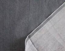 "Dark Blue Stretch Denim Fabric by the Yard Half Yard Blue Jeans Denim Fabric Upholstery Home decor Craft Bag Canvass 59"" Wide Cotton Fabric"