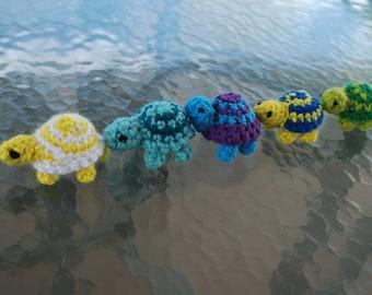 Colorful Amigurumi Turtles / Little Crocheted Turtles / Crochet Turtle
