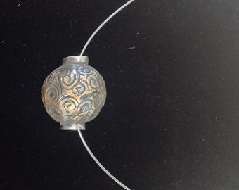Large Fine Silver Bead Necklace