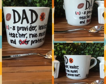 "Personalized Father's Day ""Definition of a Dad"" Handpainted Coffee Mug"