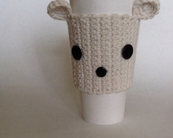 Bear cup cozy or sleeve