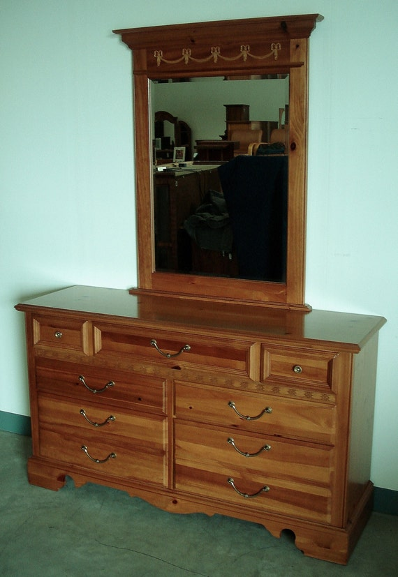 mid century modern bedroom dresser and mirror by