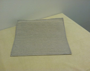 Placemats Blue Ticking Stripe
