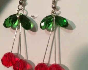 Cherry Swavorski crystal earrings