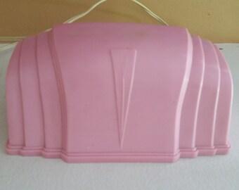 Vintage Mid-century Pink Headboard Lamp