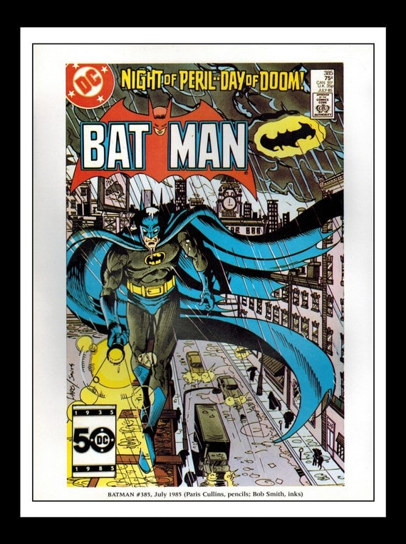 Classic Comic Book Cover Prints : Vintage print ad comic book cover batman