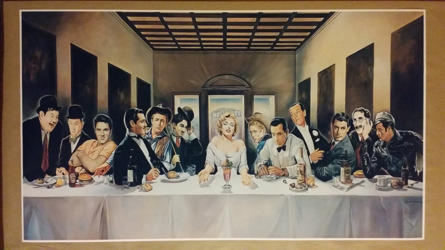 Hollywood Legends Last Supper GIANT Wide Digital Painting