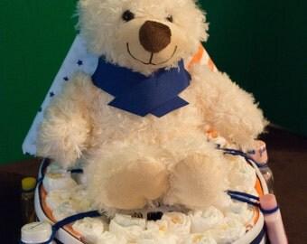 Sail boat diaper cake