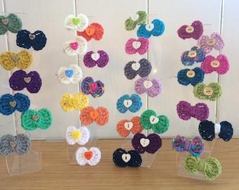 Handmade Crochet Hair Clips