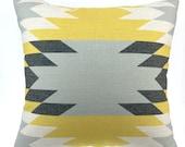 Kilim Pillow, Turkish pillow, Aztec pillow, Tribal Pillow Cases, Pillow Covers, Geometric Pillow Cover,  yellow pillow, black pillow 18x18