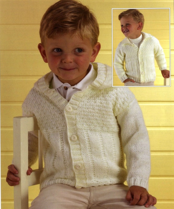 Knitting Pattern Child s Hooded Jacket : Knit Baby Toddler Child Hooded Cardigan and Sweater Vintage