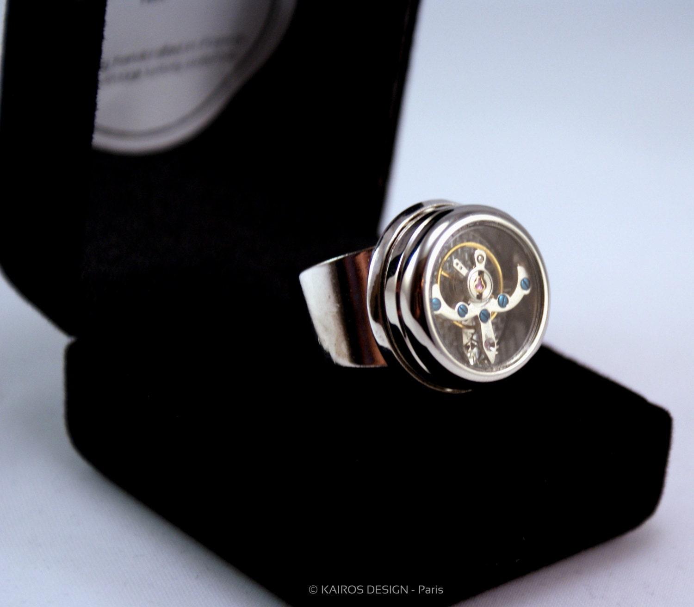 Ring mechanism tourbillon watch movement automatic mechanical