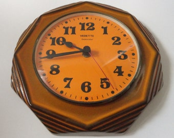 60s Vintage Kitchen Wall Clock // Vedette transitor // Made In France