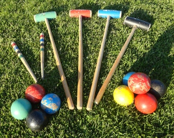 Vintage Croquet Set From The 50s