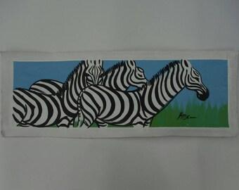 Zebra Trio Painting