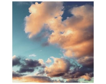 Pink and Turquoise Clouds 2 - limited edition framed digital print