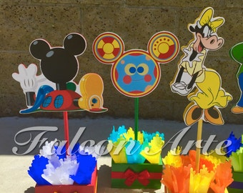 Mickey Mouse Clubhouse birthday party wood guest table centerpiece decoration Pluto Daisy Goofy Minnie Mickey Donald PER PIECE