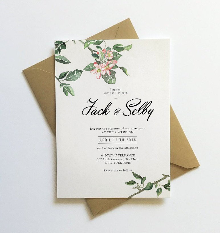 Botanical Weding Invitations 018 - Botanical Weding Invitations