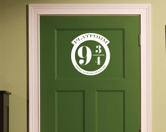 Harry Potter Platform 9 3/4 Funny Door Decal for Home
