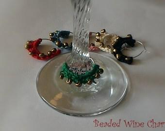 Beaded Wine Charms