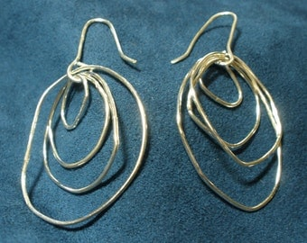 Sterling Silver Nested Hoop Earrings