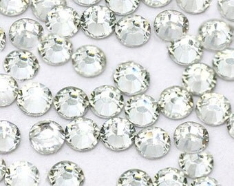 1000 4mm Clear Flatback resin Rhinestones ss16