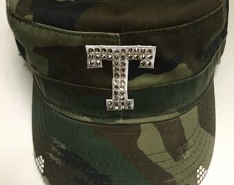 TEXAS RANGERS Camo Bling cadet/military baseball hat