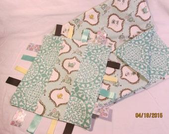 Baby Blanket & Interactive Ribbon Blanket Combo Aqua Ducky