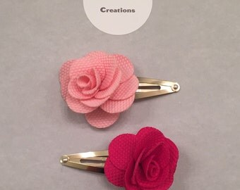 Blooming Rose with gold snap hair clip