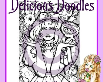 Digital Stamp, Alice and Friends