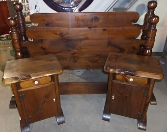Vintage 3 Piece Pine Bedroom Set