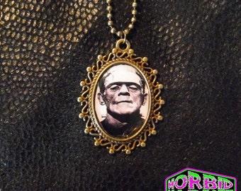 Universal Monsters Frankenstein's Monster Bronze Tone Cameo Necklace