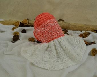 Apricot Crocheted Sweater Dress