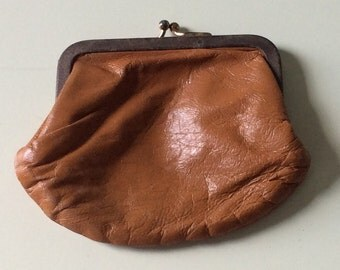 Antique Leather Coin Purses/ Set of Two