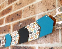 Arrow Paper Bunting - Vintage Cameras | Black and Teal | Arrow Bunting | Photography Decorations | Camera Party | Party Bunting