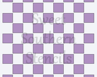 Large Square Pattern Stencil
