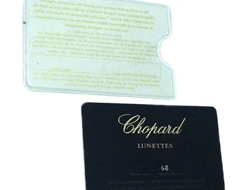 Chopard Lunettes Sunglasses Guarantee Plastic Card Authentic