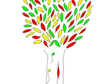 Ink Tree, print