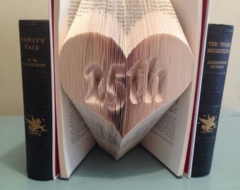 Book Folding Pattern Heart 25th