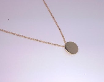Dainty Gold Plated Necklace, Minimalist Necklace, Minimalist Gold Jewelry