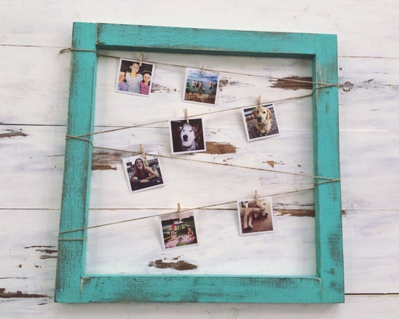 Items Similar To Rustic Wooden Picture Frame With Clothes
