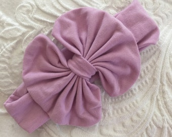 Big Bow Headband Lavender Light Purple