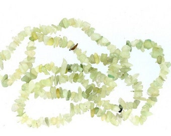 Wire chips beads in translucent Green Jade - 90cm wire